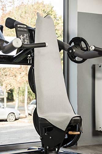 Banters Mikrofaser-Handtuch in grau für Sport und Fitness | Sporthandtuch für Workout und Kraft-Training im Fitnessstudio (mit Geschenkverpackung) - 4