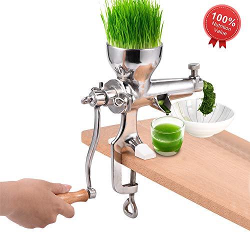 Jacksking Manual Juicer, Stainless Steel Healthy Vegetable Fruit Juice Extractor Tool, Hand Wheatgrass Juice Squeezer