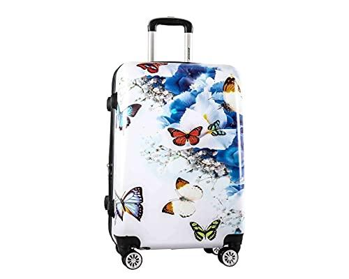 Maleta de tamaño pequeño Cabina Cabina Hard Shell Cabin Size Travel Weekend Maleta llevar en bolsa, R, 60 x 40 x 24 cm approx.,