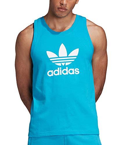 Adidas Originals Trefoil Tank - Camiseta de tirantes para hombre - Azul - Small