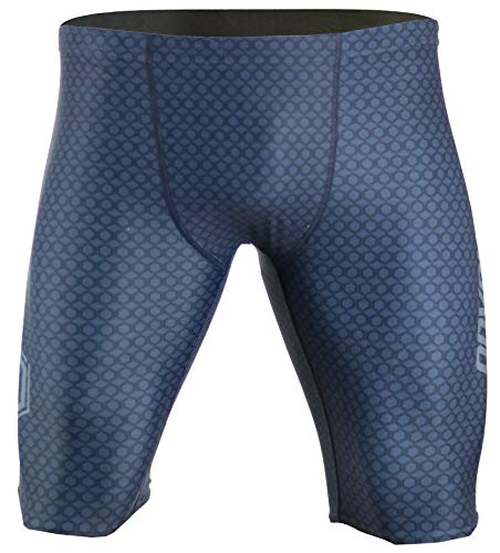 Onvous Mens V2 Compression Racing Swimsuit & Cross-Training Jammer/Shorts(36) Grey