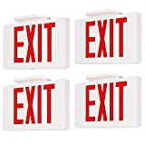 ✔ US STANDARD - Injection-molded, flame-retardant and high impact thermoplastic housing. 120V-277V AC universal voltage operation.This exit sign with Utra slim design is great for placing on doorways, isles, restaurant, office building and warehouses...