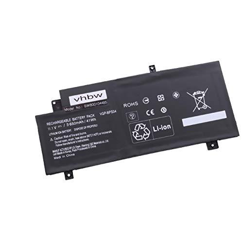 vhbw Akku passend für Sony Vaio FIT 15 Touch, SFV15A1M2ES, SV-F14A1M2E/S Notebook (3600mAh, 11,1V, Li-Ion, schwarz)