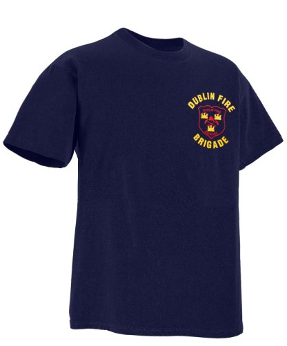 IrishWholesale Men's Dublin Fire Brigade Irish T-Shirt X-Large Dark Blue