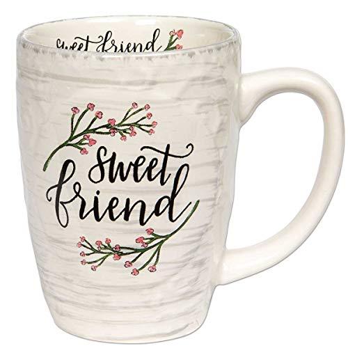 Brownlow Gifts Simple Inspirations Ceramic Coffee Mug, Sweet Friend