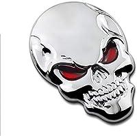ウィノモ車のステッカースカルスカルバンパーステッカー3Dメタル頭蓋骨バンパーステッカーカースタイリングデコレーション SAJIDJ&CO (1 : 1)