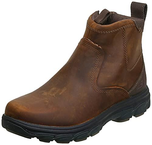 Skechers USA Men's Resment Korver Chukka Boot,Dark Brown,10.5 M US