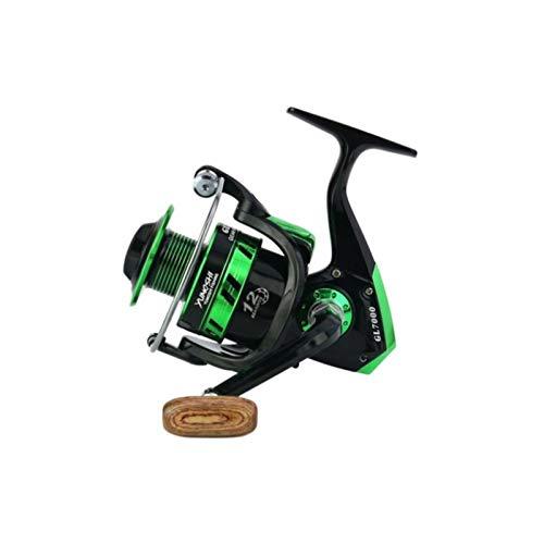 OYPY Rodamientos de Bolas de 12BB Reel de Pesca Gl1000-7000 Gl1000-7000 5.5: 1 índice de Engranajes Aparejos de Pesca (Color : Negro, Talla : 5000 Series)