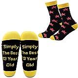 MYSOMY Calcetines de cumpleaños para 13 años, simplemente los mejores calcetines de 13 años de edad, regalos de feliz cumpleaños para niña de 13 años