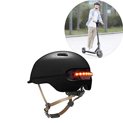 Dedeka Fahrradhelm mit LED-Licht für XIAOMI M365, klassischer Fahrrad- / Skate- / Multisporthelm mit 12 Belüftungsöffnungen, elektrischer Skateboard-Roller Elektroauto Smart Riding Helmets