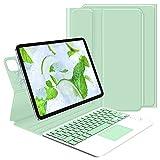 GOOJODOQ Funda con Teclado para iPad Pro 11 2021/2020/2018/ iPad Air 4 10.9, Teclado Desmontable Slim Folio Funda Protectora para iPad Pro 11(Verde)
