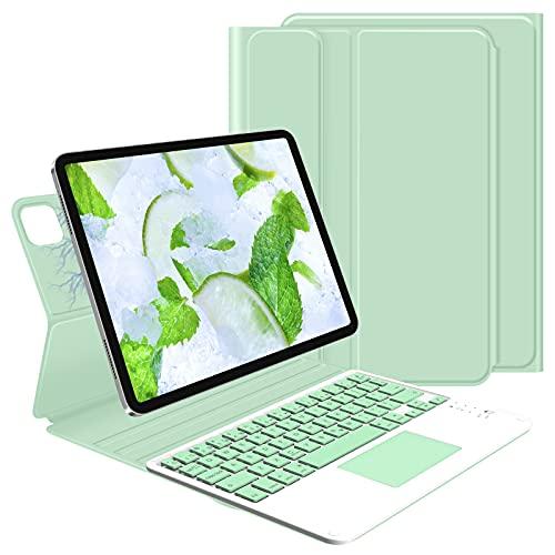 GOOJODOQ Custodia Tastiera per iPad PRO 11  2021 2020 2018 Air 4 10.9 ,Tastiera Touchpad Rimovibile con Cover Magnetica Sottile per iPad PRO 11  Air 4 10.9 (Verde)