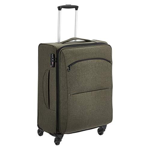 Amazon Basics Urban Softside Spinner Luggage, 25-Inch, Green