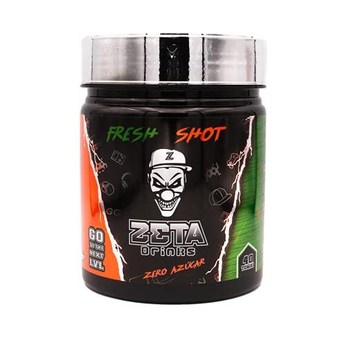 ZETA DRINKS Bebida Energética para gamers en polvo   TUBO FRESH SHOT   Energía para Esports Y Creadores 400g   40 Raciones