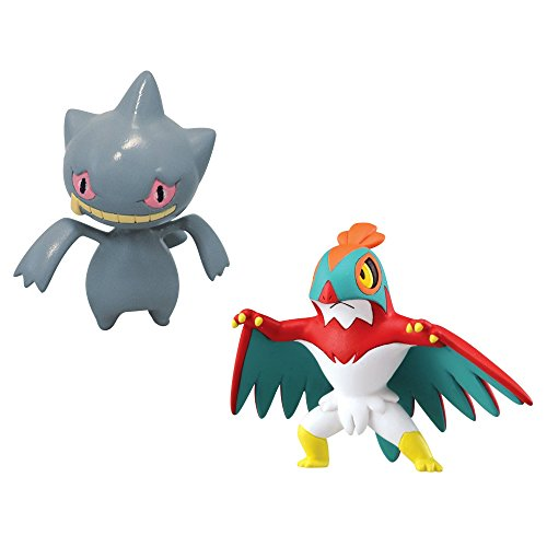 Pokemon 5 cm X and Y Hawlucha VS Banette Battling Figures (Pack of 2)