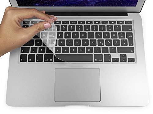 """MyGadget Protezione Tastiera EU per MacBook Air 13"""" PRO/Retina 13"""" & 15"""" (Fino al 2016) - Copritastiera in Silicone - Skin Ultrasottile Trasparente"""