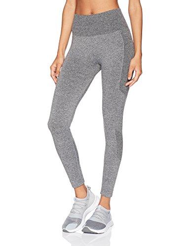 "Starter Women's 25"" Seamless Light-Compression Cropped Workout Legging, Amazon Exclusive, Iron Grey Jaspe, Large"