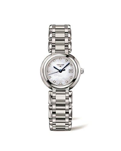 Longines Primaluna White Mutter von Pearl Zifferblatt Edelstahl Stahl Damen Watch l81104876von Longines