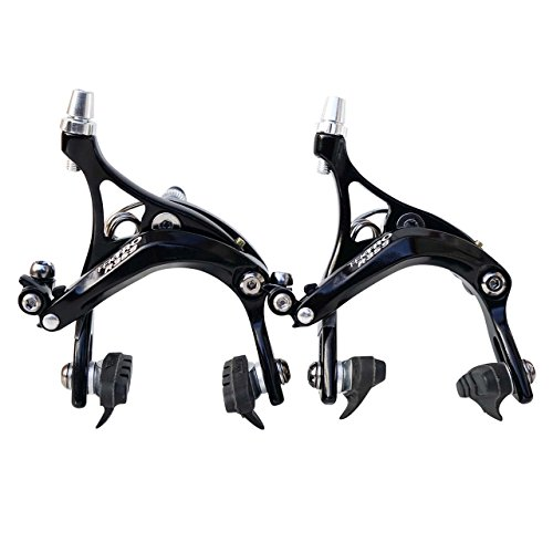 Pinzas de Freno para bicicleta de carretera Tektro R359 calibradores de 47 y 57mm, colores negro o plateado