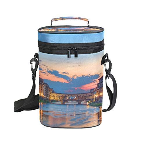 LUPINZ Weintasche/Weintasche mit Sonnenuntergang über Florenz Italien