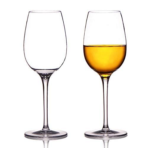 QIURUIXIANG Juego de 2 copas de vino tinto irrompibles para cócteles, copas de vino, jugo, vino, copas para beber para el hogar, boda, fiesta QI707 (color: 355 ml)