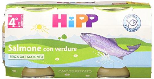 Hipp Omogeneizzato Salmone con Verdure - 24 vasetti da 80 g