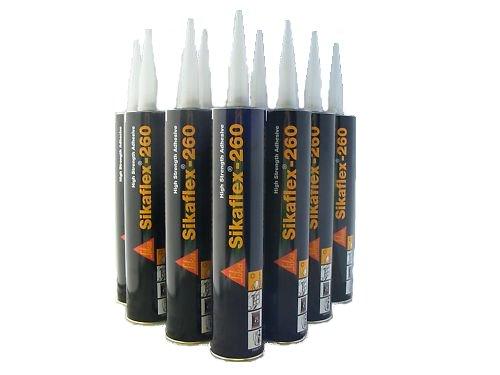 Sikaflex 260 N schwarz Karosseriekleber 12 x 300 ml Kartuschen 151170