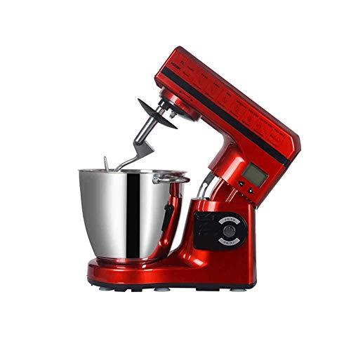 Bdesign Küchenmaschine Kealive 6 Speed Cake Mixer 1200W Teigmaschine mit 7L Rührschüssel, Knethaken, Drahtpeitsche, Rührer und Spritzschutzabdeckung