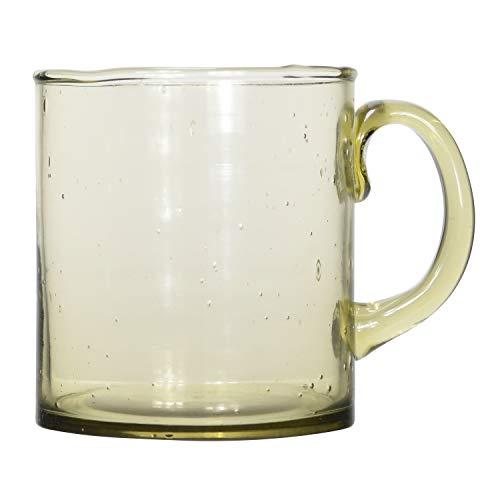 Bloomingville Olive Recycled Glass Mug Becher, Glas, olivgrün