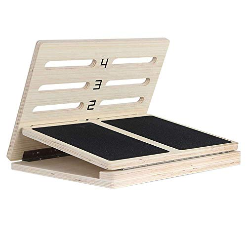 Best Bargain Nuokix Aerobic Pedal Sports Lacing Plate Fitness Squat Plate Wooden Calf Stretcher Exer...