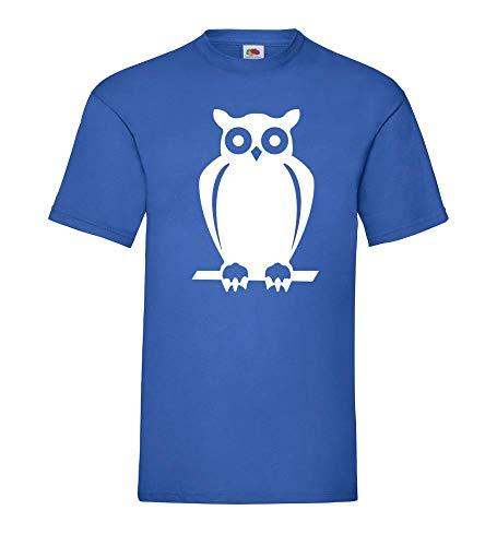 Naturschutz Eule Männer T-Shirt Royal Blau 3XL - shirt84.de