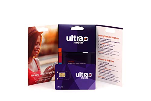 Ultra Mobile Triple Cut SIM Card Starter Kit - No Contract - Compatible with GSM Networks (T-Mobile)