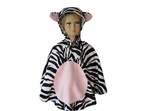 fasching karneval halloween kostüm cape für kleinkinder aus fellimitat zebra