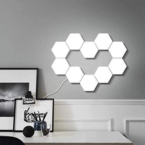 GYH Luces Modulares Sensibles Al Tacto, Lámpara de Pared Hexagonal Decorativa de Panal LED, para Cocina, Armario, Decoración del Hogar, Paquete de 10