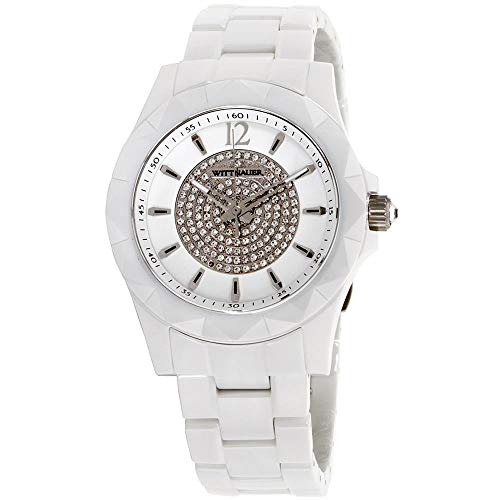 Wittnauer WN3016 Men's Sporty Crystal Accented White Dial White Ceramic...