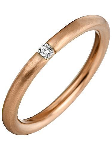 Luna Creation Promessa Solitairering 1A041R456-2 - Anillo de oro rojo 56 de 585 con 1 diamante (0,07 quilates)