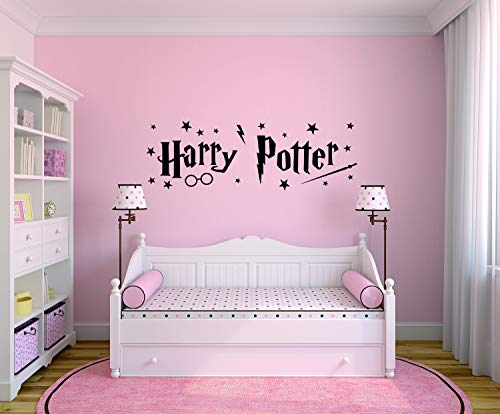 Profile Sign Wandaufkleber Harry Potter, ca.101 x 33cm, Schwarz