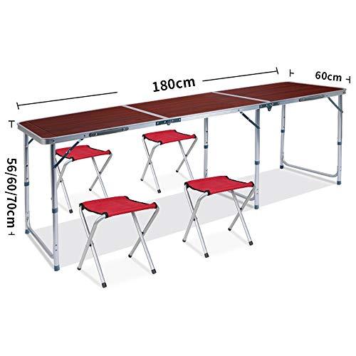 PULLEY-S Al aire libre portátil plegable mesa de camping for la cubierta del partido de picnic for cenar al aire de 1,8 m de banquetes al aire libre Tabla Puesto plegable, Tabla Stall, Publicidad, mes