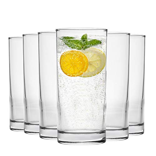 Argon Tableware Traditional Hiball Glasses - 285ml (10oz) Gift Box of 6