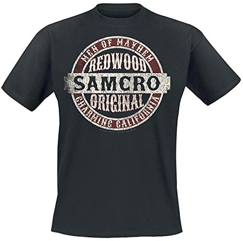 Sons of Anarchy Samcro Original Hombre Camiseta Negro M, 100% algodón, Vintage Regular
