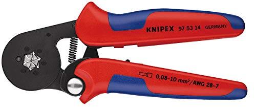Knipex 97 53 14 SB Selbsteinst. Crimpzange f.Aderendhülsen Länge: 260 mm