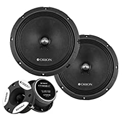 "Orion Cobalt Series CT-M8 and CTW101 Tweeters 8"" Mid-Range Speakers: 225W RMS/450W Nominal/900W Max Music Power 3.75"" Tweeters: 50W RMS / 100W Nominal / 200W Max Music Power Authorized Dealers"