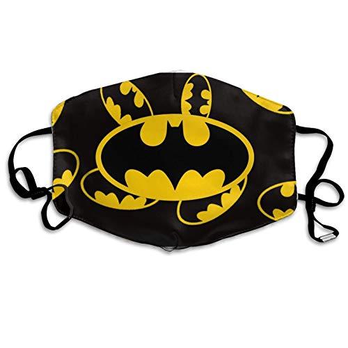 CUDEVS Ba-tman Masks B-ruce W-ayne Outdoor Balaclava Adult Washable Reusable Dustproof Breathable for Mens Womens Kids FA-ce Cover