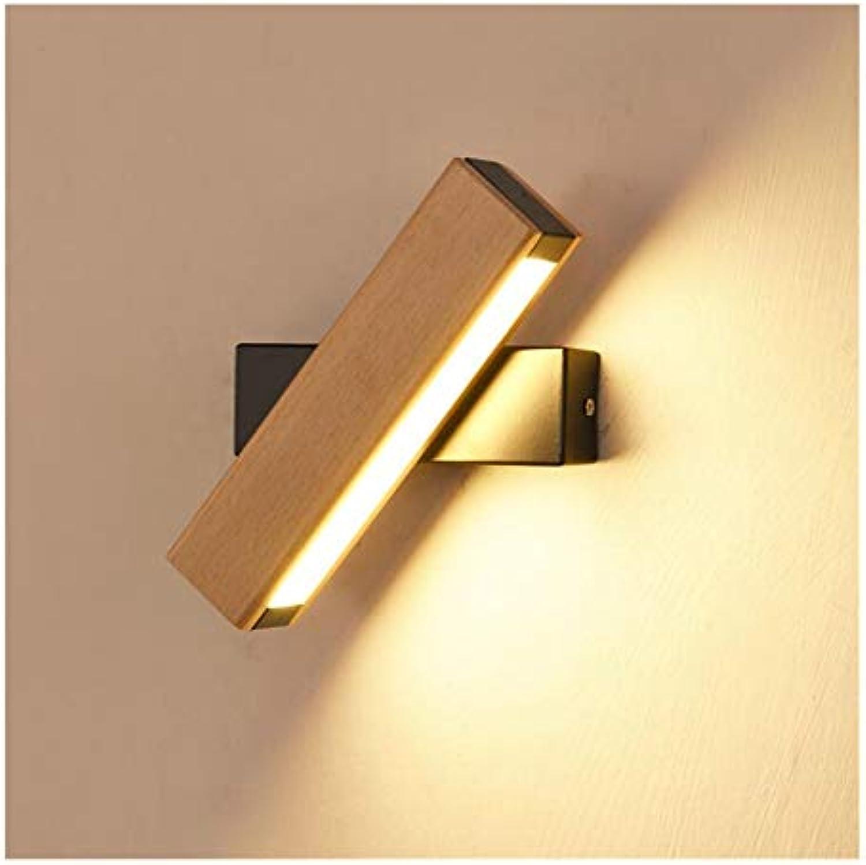 WFbilamp Innenbeleuchtung LED Acryl Wandleuchte - Moderne Einfache Schlafzimmer Nachttischlampe, Kreative Gang Wandleuchte, Log Rotierende Wandleuchte (Farbe   schwarz Trumpet, Größe   Gelb Light)