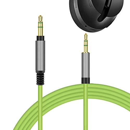 Geekria QuickFit Vervangende Audio Kabel voor Bose Ruisonderdrukking Hoofdtelefoon 700, NCH 700, NC 700, Koptelefoon - 3,5 mm tot 2,5 mm Mannelijke Stereo Koord, werken met 3.5MM Audio apparaat. (5,5 FT, Groen)