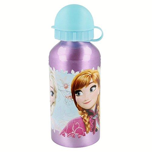 Disney Frozen–Piccola Bottiglia Borraccia Alluminio 400ml, Stor 86834