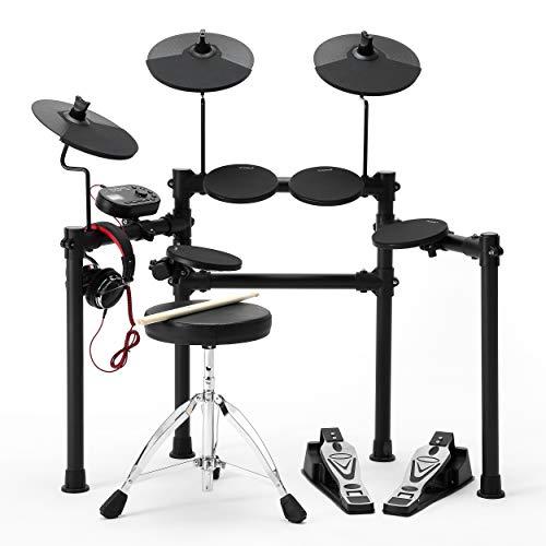 QoQoba Electronic Drum Set PRO Lite 8K Series | MIDI Digital Electric Drum Set for Kids Adult...