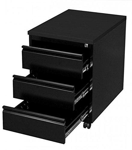Profi Stahl Büro Rollcontainer Bürocontainer schwarz 505306 Maße: 620 x 460 x 600 mm kompl. montiert und verschweißt