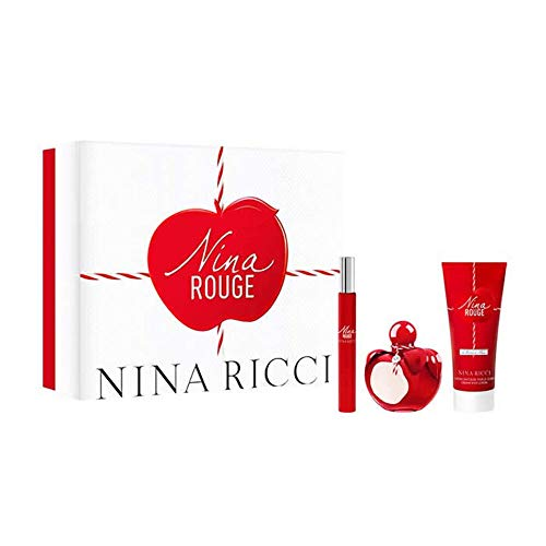 NINA RICCI ROUGE 50ml Eau de Toilette + 10ml ROLL- ON EDT + 75ml Body Lotion
