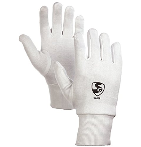 SG Club Inner Gloves for Wicket Keeping and Batting Mens Size
